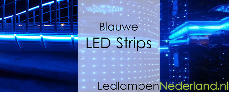Blauwe LED-strips